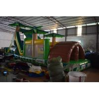 Buy cheap Simple Inflatable Palm Trees Obstacle Courses 0.55mm PVC Blow Up Obstacle Courses For Children from wholesalers
