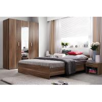 Buy cheap Modern E1 MDF Smooth Melamine Bedroom Furniture King and Queen Size from wholesalers