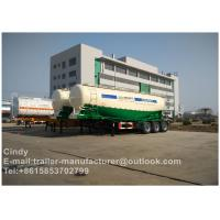 Buy cheap 30~110m3 Bulk Cement Trailer , Cement Semi Trailer High Volume Rate from wholesalers