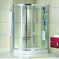 China Automatic Curved interior Home frosted glass frameless shower doors on sale