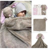 Buy cheap Best wholesale cheap custom cute 76*76cm plush stuffed soft various type animal head toy design knitted milestone blanke from wholesalers