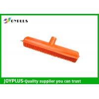 Buy cheap Orange Color Garden Cleaning Tools Rubber Broom Head Durable HG0610-H from wholesalers