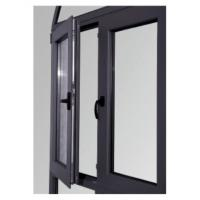 Buy cheap Tempered Glass Replacing Double Aluminium Casement Windows Dark Gray ISO 9001 / CE from wholesalers