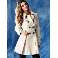 Buy cheap White Double Breasted Ladies Fashion Coats Long Wool Girls Clothing from wholesalers
