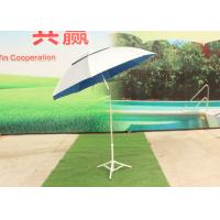 Silver Sun Beach Umbrella , Blue Water Drop Outdoor Beach Umbrella Anti Uv