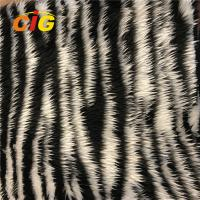 Buy cheap Long Hair Jacquard Abrasion - Resistant Faux Fur Fabric Weight 180-500GSM product