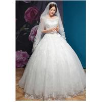Buy cheap Winter Thick Bridal Princess Wedding Gowns With Luxurious Lace Skirt from wholesalers
