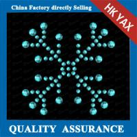 China rhinestone transfer hot fix;hotfix transfer for christmas;lastest design for christmas decoration on sale