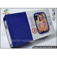 Buy cheap Promotional Electronics Packaging Boxes Blue Paperboard Customized Sizes from wholesalers