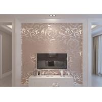 Buy cheap Embossed Silver Leaf Pattern Washable Vinyl Wallpaper for Household , Hotel from wholesalers