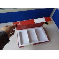 Buy cheap Boutique Food Gift Boxes Interior Plastic Tray Red Color 44cm X 14cm X 2.6cm from wholesalers