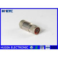 Buy cheap 1/2 Coaxial Cable Male Antenna Connector With Threaded Fastening Plug / Male Pin Connector from wholesalers