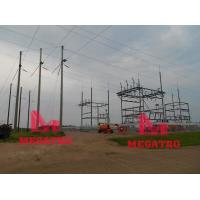 Buy cheap 115KV dead end monopole and switch station framework from wholesalers