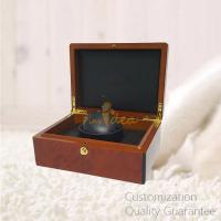 Buy cheap Custom Promotion Gifts Burlwood Rosewood Wooden Watch Display Storage Gift Box Case, with Gold Metal Lock product