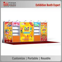 Buy cheap One Wall Easy Set Up 10x20 Trade Show Booth Aluminum Profile Exhibition Counters from wholesalers