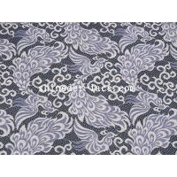 Buy cheap Unique Phoenix Pattern Deisgn Cotton Nylon Lace Fabric Purple/Ivory Noble For Apparel SYD-0187 from wholesalers