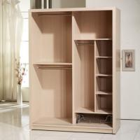 Buy cheap Wood Veneer Face Particle Board Wardrobe With Trouser Hanger Rack Clothes Rail from wholesalers