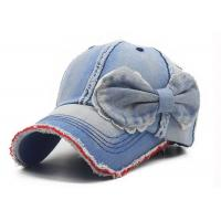 Buy cheap Vintage Denim Washed Cotton Baseball Cap Strapback Breathable Blue Color from wholesalers