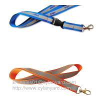 Buy cheap Secure reflective band lanyards with visibility at night, printed reflective lanyards from wholesalers