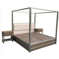 Buy cheap Metal Frame Queen Bedroom Furniture Sets King Bed With Light Oak Wood from wholesalers