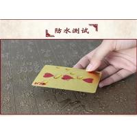 Buy cheap CE Personalized Poker Cards , Custom Embossed 24k 999.9 Gold Foil Plated Plastic Playing Cards from wholesalers