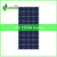 Buy cheap 36cells 125*125mm 80-105W Monocrystalline Solar Panels for Portable Solar System from wholesalers