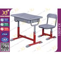 Buy cheap Iron Structure Primary Student Kids School Table And Chairs With Non Slip Feet from wholesalers