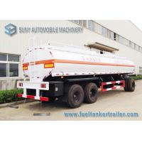 Buy cheap High Performance 20000L 3 Axle Train Oil Tank Trailer With Ellipse Shaped from wholesalers