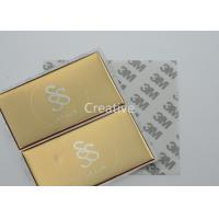 Gold Color Screen Printing 3D Domed Labels , Raised Doming Labels