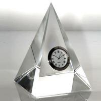 Buy cheap k9 blank crystal pyramid desk clock for laser etched from wholesalers