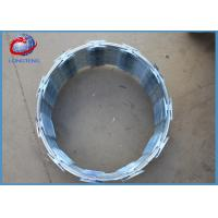 Buy cheap Cross Type Galvanized Razor Barbed Wire Easy Maintenance 700mm Diameter from wholesalers