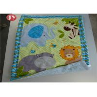 Buy cheap Patterns Animals Personalized Baby Blankets Ashable Velour Baby Quilt Reversible Sherpa Backing from wholesalers