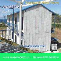 China Steel structure house composite sandwich building wall panels  2440*610*100mm on sale