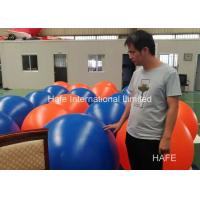Buy cheap PVC Orange Blue Hanging Balloon Decoration For Mixed Events , 80CM Dimeter from wholesalers