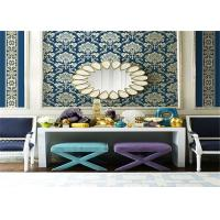 Buy cheap Damask Non Woven Wallpaper , Embossed Living Room Wallpaper 0.53*10m / Roll product