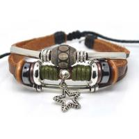 Buy cheap Natural High Quality Sports Custom Leather bangle Bracelets L0030 from wholesalers
