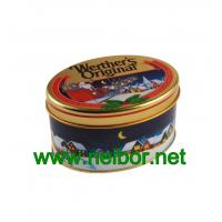 Buy cheap oval shape candy tin box chocolate tin packaging can for Christmas season from wholesalers
