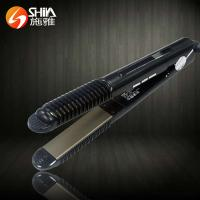 Buy cheap professional 2 in 1 white black flat iron hair straightener and hair curler With LED/LCD display in china from wholesalers
