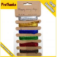 Buy cheap Gold silver metallic glitter craft ribbon with lowest MOQ from wholesalers