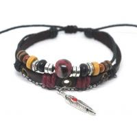 Buy cheap Brand New adjustable handmade 18cm 20cm 22cm 28cm Braided Leather Bracelets A0195 from wholesalers