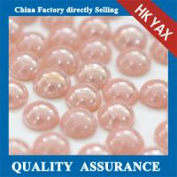 Buy cheap 0518C Pink 3mm-10mm half round pearl beads,fashion pearl beads half round,flatback half round pearls beads for sale from wholesalers