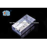 Buy cheap BS4568 Steel Two Gang GI Electrical Boxes And Covers For Metal Outlet Devices from wholesalers