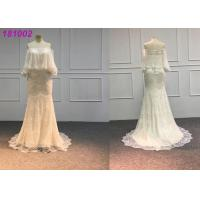Buy cheap Elegant Gold Mermaid Wedding Dresses / Handmade Vintage Lace Mermaid Wedding Dress from wholesalers