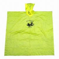 Buy cheap Emergency and Disposable PE Rain Poncho, Customized Logos are Welcome product