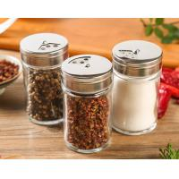 Buy cheap Lead Free Pepper Glass Spice Jar Kitchen Custom Logo With Stainless Steel Lid from wholesalers