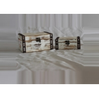 Buy cheap Painting Set Of 2 Decorative Retro Wooden Box Cabinet from wholesalers