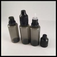 Black Clear Dropper Bottles , Medical Grade Plastic Eye Dropper Bottles