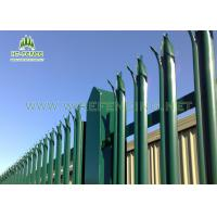 Waterproof Steel Palisade Fencing / Palisade Security Gates With Triple Point
