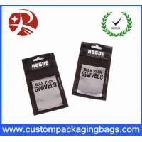 Buy cheap Metallic Black Printing OPP Zipper poly mailer bags With Bottom Gusset , Waterproof from wholesalers