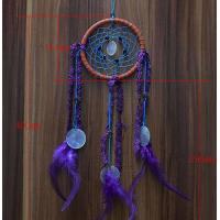 Buy cheap New Dream Catcher with Purple Floral Feather Car Wall Hanging Decor Ornament Crafts from wholesalers